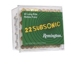 Remington 22 Subsonic 38 gr Lead Hollow Point .22lr Ammo, 100/box - SUB22HP1