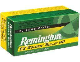 Remington 22 Golden Bullet 36 gr Plated Hollow Point .22lr Ammo, 225/box - 1622E