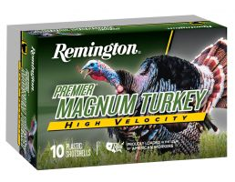 "Remington Premier High-Velocity Magnum Copper-Plated Turkey 3"" 12 Gauge Ammo 5, 5/Box - PHV12M5A"