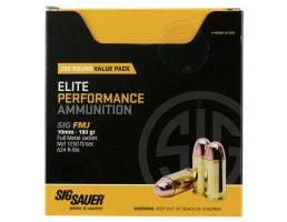 Sig Sauer Elite Ball 180 gr Full Metal Jacket 10mm Ammo, 200 Rounds - E10MB1200