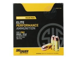 Sig Sauer Elite Ball 180 gr Full Metal Jacket .40 S&W Ammo, 200 Rounds - E40SB2200