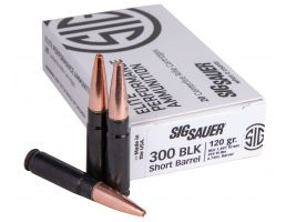 Sig Sauer Elite Hunting 120 gr Copper Solid .300 Blackout Ammo, 20/box - E300H1SBR20