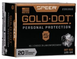 Speer Gold Dot 125 gr Hollow Point .357 Sig Ammo, 20/box - 23918GD