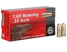 Geco 73 gr Full Metal Jacket .32 ACP Ammo, 50/box - 270340050