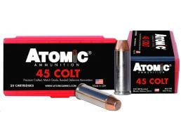 Atomic Ammunition 250 gr Bonded Match Hollow Point .45 Colt Ammo, 50/box - 00444