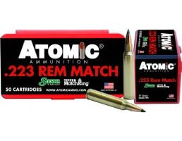 Atomic Ammunition Match Tactical Law Enforcement 77 gr Tipped MatchKing .223 Rem/5.56 Ammo, 50/box - 452