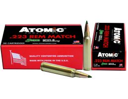 Atomic Ammunition Match Tactical Law Enforcement 77 gr Tipped MatchKing .223 Rem/5.56 Ammo, 20/box - 459