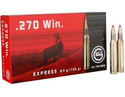 Geco Express 130 gr Express Tip .270 Win Ammo, 20/box - 283640020
