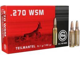 Geco Teilmantel 140 gr Soft Point .270 WSM Ammo, 20/box - 282340020
