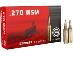 Geco Express 130 gr Express Tip .270 WSM Ammo, 20/box - 283840020