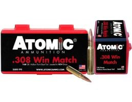 Atomic Ammunition Match 168 gr Hollow Point Boat Tail .308 Win Ammo, 50/box - 426