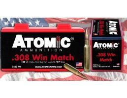 Atomic Ammunition Match Tactical Law Enforcement 168 gr Sierra Tipped MatchKing .308 Win/7.62 Ammo, 20/box - 460