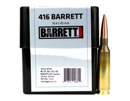 Barrett Firearms 452 gr Cutting Edge MTAC .416 Barrett Ammo, 10/box - 17222