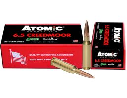 Atomic Ammunition 142 gr Hollow Point Boat Tail MatchKing 6.5 Crd Ammo, 20/box - 404