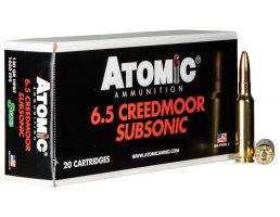 Atomic Ammunition Subsonic 130 gr Sierra Hollow Point Boat Tail 6.5 Crd Ammo, 20/box - 476
