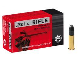 Geco Rifle 40 gr Lead Round Nose .22lr Ammo, 50/box - 254040050
