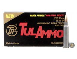 Tulammo 55 gr Hollow Point .223 Rem/5.56 Ammo, 20/box - TA223557