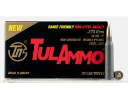 Tulammo 62 gr Hollow Point .223 Rem Ammo, 20/box - TA223624