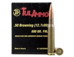Tulammo 680 gr Full Metal Jacket .50 BMG Ammo, 10/box - TA127091