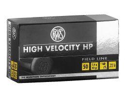 RWS Rottweil High Velocity HP 40 gr Hollow Point .22lr Ammo, 50/pack - 2132494