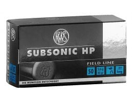 RWS Rottweil Subsonic HP 40 gr Hollow Point .22lr Ammo, 50/pack - 2132664