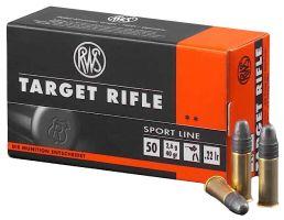 RWS Rottweil Target Rifle 40 gr Lead Round Nose .22lr Ammo, 50/pack - 2132478