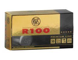 RWS Rottweil R 100 40 gr Lead Round Nose .22lr Ammo, 50/pack - 2134195