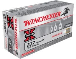 Winchester Ammunition Super-X 125 gr WinClean (Brass Enclosed Base) .357 Mag Ammo, 50/box - WC3571