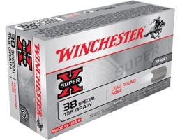 Winchester Ammunition Super-X 158 gr Lead Round Nose .38 Spl Ammo, 50/box - X38S1P