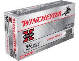 Winchester Ammunition Super-X 148 gr Lead Wad Cutter .38 Spl Ammo, 50/box - X38SMRP