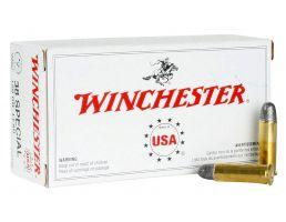 Winchester Ammunition Super-X 150 gr Lead Round Nose .38 Spl Ammo, 50/box - Q4196