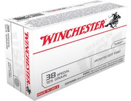 Winchester Ammunition Super-X 125 gr Jacketed Soft Point .38 Spl Ammo, 50/box - USA38SP