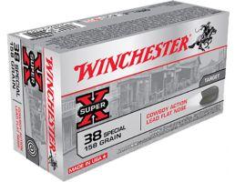 Winchester Ammunition USA 158 gr Lead Flat Nose .38 Spl Ammo, 50/box - USA38CB