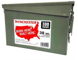 Winchester Ammunition USA 130 gr Full Metal Jacket .38 Spl Ammo, 300/box - WW38C