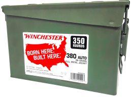 Winchester Ammunition USA 95 gr Full Metal Jacket .380 Auto Ammo, 350/box - WW380C