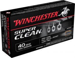 Winchester Ammunition Super Clean 120 gr Full Metal Jacket .40 S&W Ammo, 50/box - W40SWLF