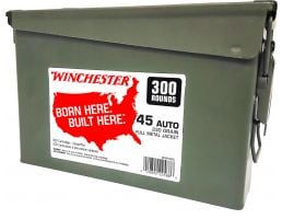 Winchester Ammunition USA 230 gr Full Metal Jacket .45 ACP Ammo, 300/box - WW45C