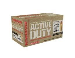 Winchester Ammunition Active Duty 115 gr Full Metal Jacket Flat Nose 9mm Ammo, 100/box - WIN9MHSC