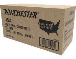 Winchester Ammo USA223LKY USA  223 Remington 55 GR Full Metal Jacket FMJ 1000 Bx