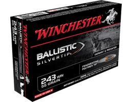 Winchester Ammunition Ballistic Silvertip 55 gr Polymer Tip .243 Win Ammo, 20/box - SBST243