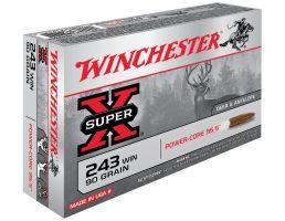 Winchester Ammunition Super-X 90 gr Power-Core .243 Win Ammo, 20/box - X243WLF