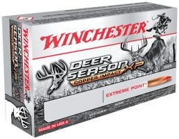 Winchester Ammunition Deer Season XP Copper Impact 130 gr Copper Extreme Point .270 Win Ammo, 20/box - X270DSLF