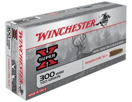 Winchester Ammunition Super-X 150 gr Power-Core .300 WSM Ammo, 20/box - X300WSMLF