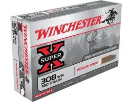 Winchester Ammunition Power Max Bonded 180 gr Rapid Expansion, Protected Hollow Point .308 Win Ammo, 20/box - X3086BP