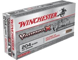 Winchester Ammunition Varmint-X 32 gr Rapid Expansion .204 Ruger Ammo, 20/box - X204P