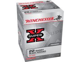 Winchester Ammunition Super-X Blank Black Powder .22 Short Ammo, 50/box - X22SB