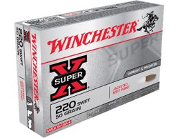Winchester Ammunition Super-X 50 gr Pointed Soft Point .220 Swift Ammo, 20/box - X220S
