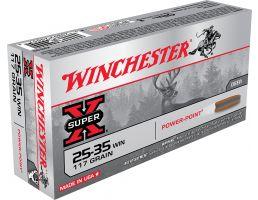 Winchester Ammunition Super-X 117 gr Power-Point .25-35 Win Ammo, 20/box - X2535