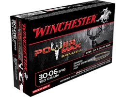 Winchester Ammunition Power Max Bonded 180 gr Rapid Expansion, Protected Hollow Point .30-06 Spfld Ammo, 20/box - X30064BP