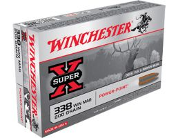Winchester Ammunition Super-X 200 gr Power-Point .338 Win Mag Ammo, 20/box - X3381